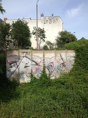 Tronçon de l'ancien mur de Berlin