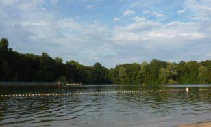 Le Jugfernheide, un lac près de Berlin