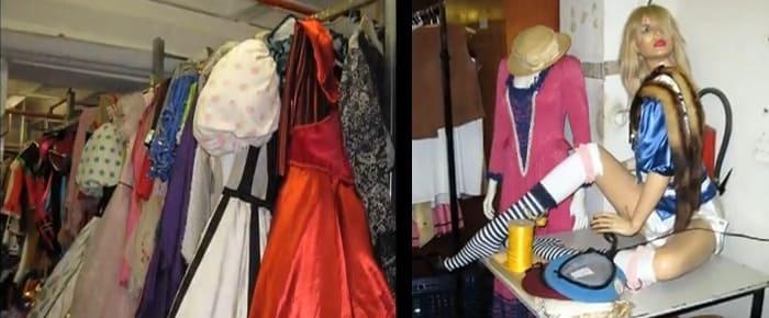 L'histoire de la mode dans un entrepôt