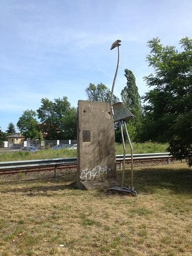Un morceau de l'ancien mur de Berlin