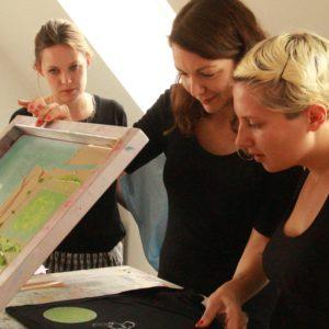 Atelier sérigraphie à Berlin