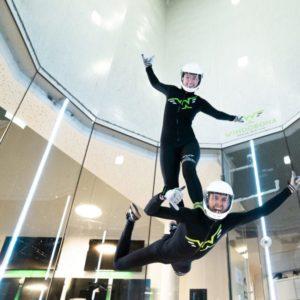 Simulateur de chute libre à Berlin
