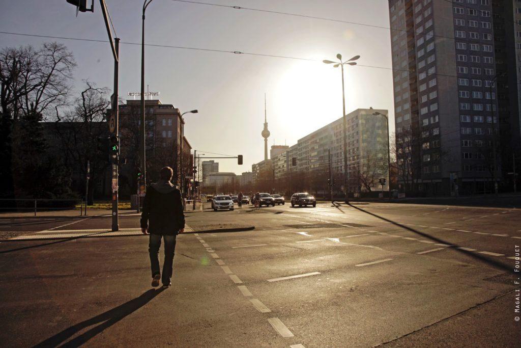 Berlin au coucher du soleil