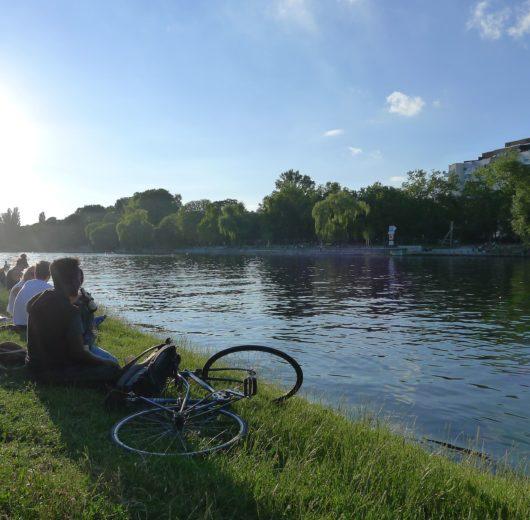 visite des parcs de Berlin en vélo