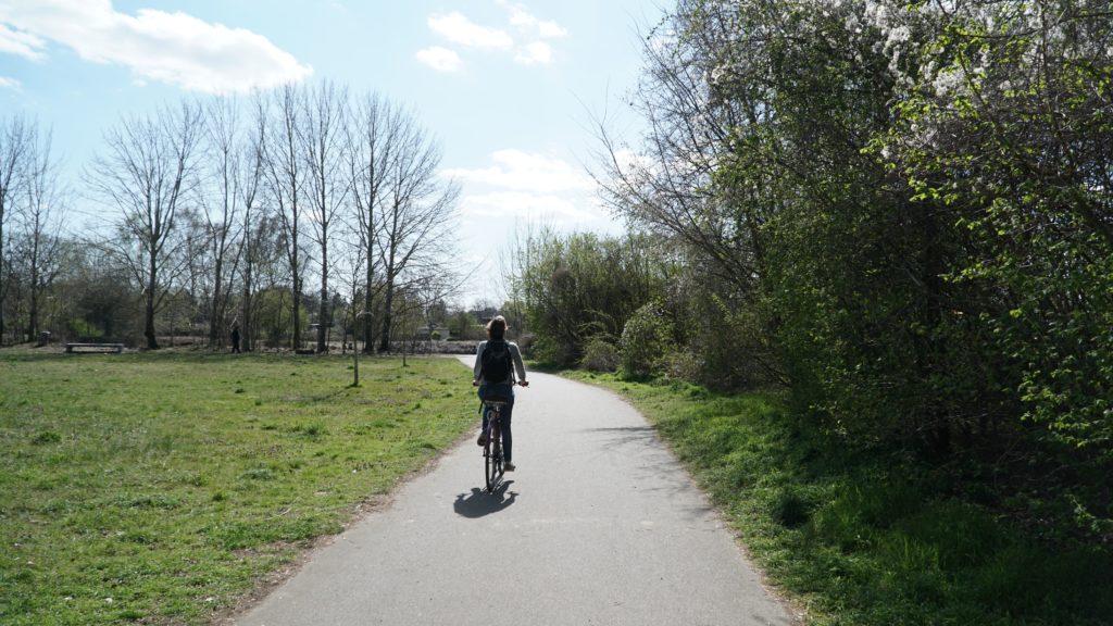 Circuit à vélo le long du mur de Berlin