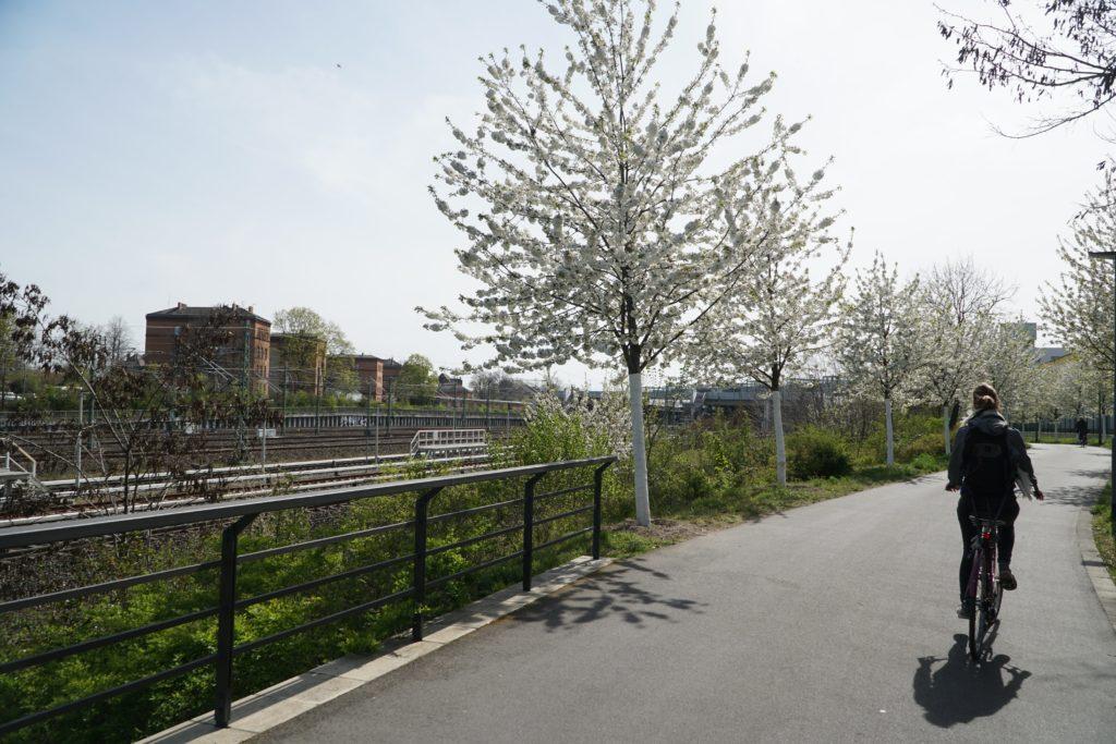 Circuit à vélo vers Südkreuz