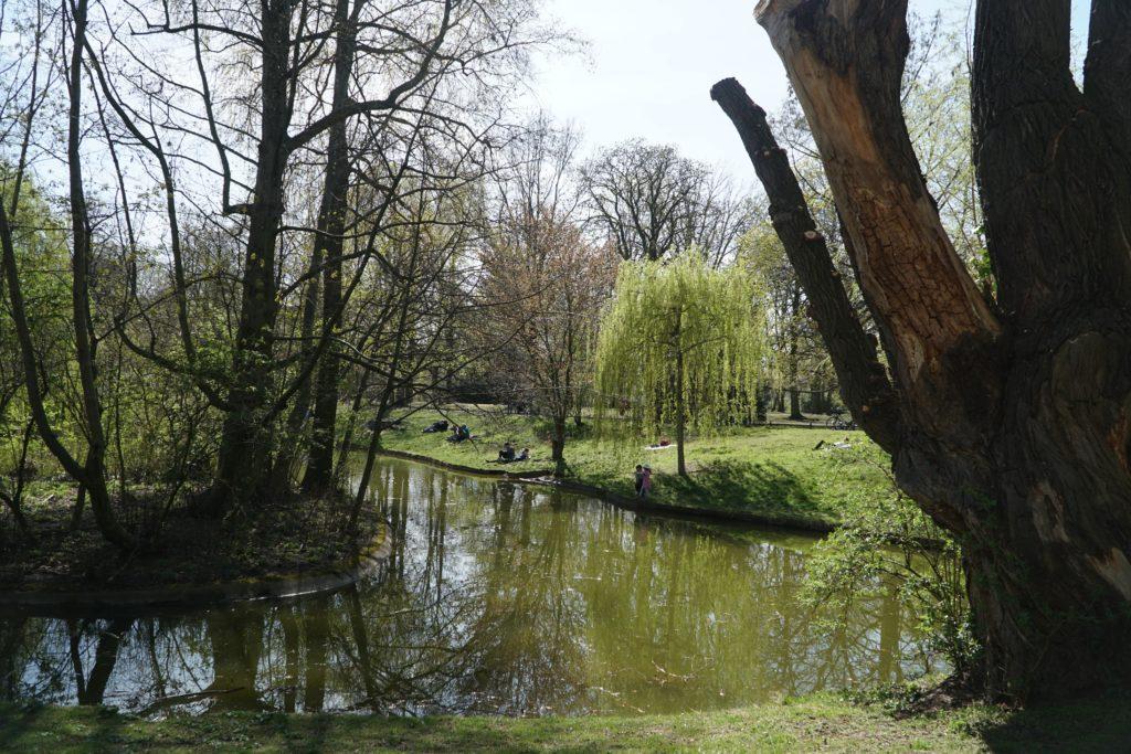 Circuit en vélo dans le parc de Lichtenberg